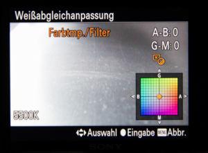 RX100 Farkorrektur Farbtemperatur