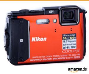 Nikon AW130 Vorderseite