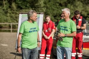 Andreas Stolz und Rainer Beck bei der Vorbesprechung