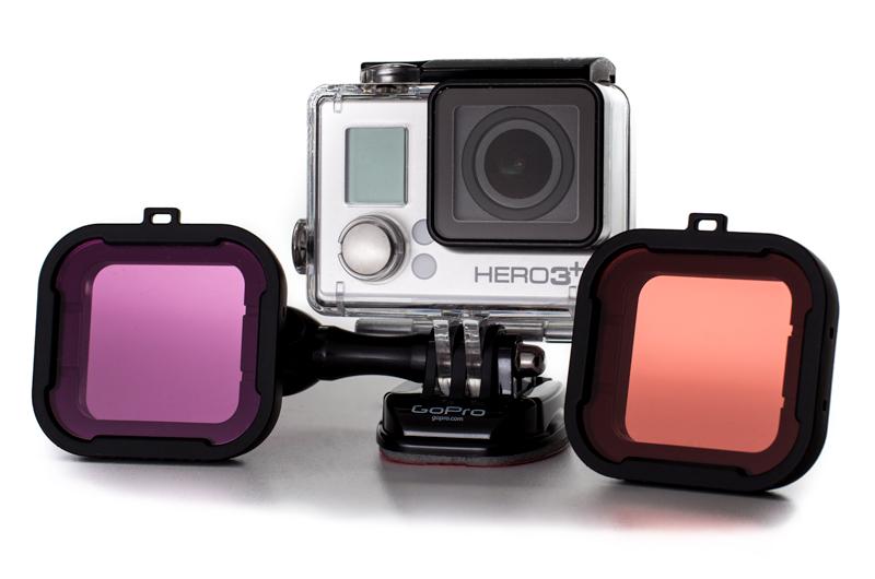 Rot und Magentafilter für GoPro