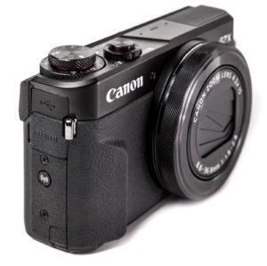 Bedienelemente der Canon G7X Mk II
