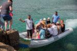 Taucher auf dem Zodiac im Hafen von El Quseir Rotes Meer Ägypten