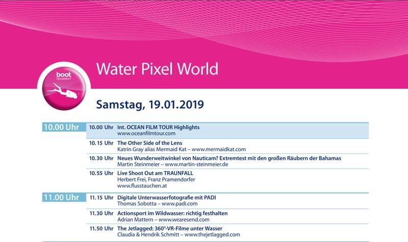 Boot 2019 Ablauf Water Pixel World als PDF
